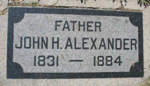 Alexander, John H. Grave Marker