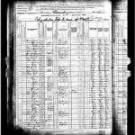Cuddleback, Moses 1880 Census