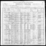 Cuddleback, Moses 1900 Census, page 1