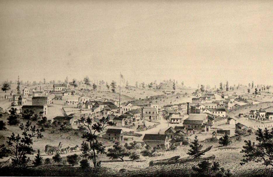Auburn California Lithograph