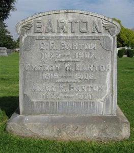 Chester R. Barton Headstone found in Savannah Cemetery